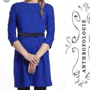 Pre❤️ Anthropologie Royal Blue Dress